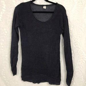 J. Crew women's gray pullover linen sweater Sz Sm